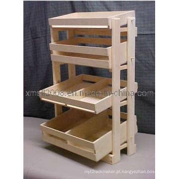 Carrinho de exposição de madeira (GDS-047)