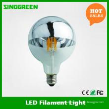 Alemania Estándar G125 Globo LED espejo cabeza bombilla LED Filamento Spiegelkopf