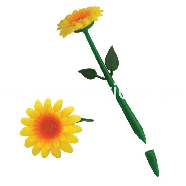 Promotional Flower Pen_color-yelloworangegreen