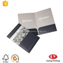 Venda quente impresso pasta de arquivo de bolso