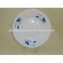 Placa profunda de la sopa de la porcelana blanca estupenda barata
