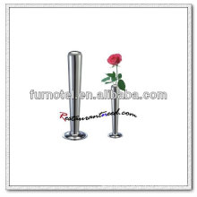 T184 H195mm florero de una sola flor de acero inoxidable