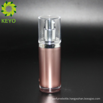 30ml brown acrylic cosmetic airless 60ml pump bottle airless cream container for packing