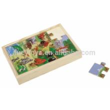 Деревянные головоломки Игры Happy Animals Puzzle