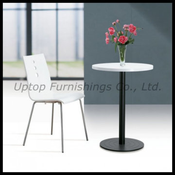 Elegant White Round Cafe Table and Chair (SP-RT261)