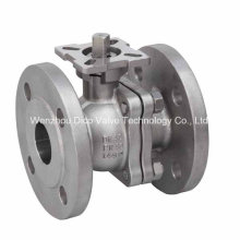 DIN Pn40 2PC Flange Ball Valve with Investment Casting