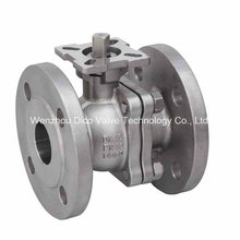 Válvula de esfera da flange do RUÍDO Pn40 2PC com carcaça de investimento