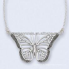 Edelstahl Antiqued Mariposa Halskette 18 Zoll Kette