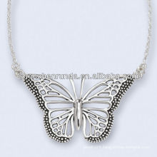 Stainless Steel Antiqued Mariposa Necklace 18 Inch Chain