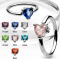 Heart CZ Gem CBR Body Piercing