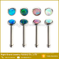 Synthetic Fire Opal 316L Surgical Steel Nose Stud Body Jewelry