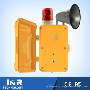 J&R Broadcasting Telephone, Weatherproof Telephone Horn&Alarm Loudspeaker Telephone