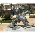 décoration extérieure de jardin métal artisanat antique bronze salvador dali sculpture