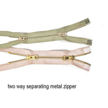 Stainless Steel Metal Zipper Two Way for garment