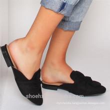 2017 best-selling women slipper in leather flat slipper