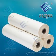 Súper Stick 1 pulgada BOPP Película de rollo de laminación de brillo térmico con pegamento