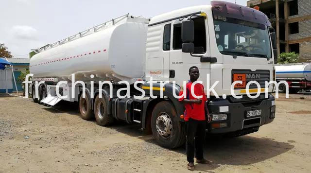 German Man tractor truck with 3 axle 50,000 liters fuel tank semi-trailer