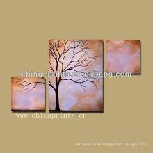 Importador Resumen Árbol Marco Pintura al óleo Artes