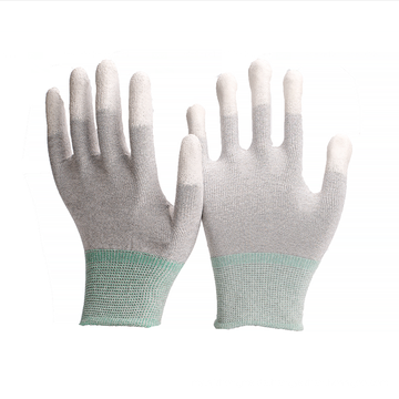 ZM Antistatic ESD Carbon Fibre PU Top Fit Gloves