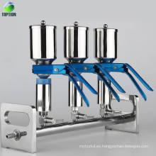 El sistema de filtración solvente del filtro de vacío de múltiples ramificaciones del laboratorio del laboratorio