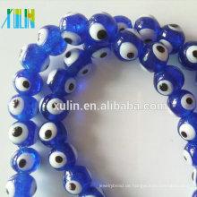 Truthahn Glas Lampwork Perlen Runde Evil Eye Perlen für Schmuck machen
