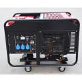 Usine-direct triphasé deux cylindres 10kw Portable silencieux type essence moteur générateur