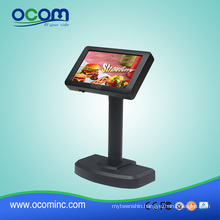 High Resolution LCD 2X20 Black USB Pos System Customer Display