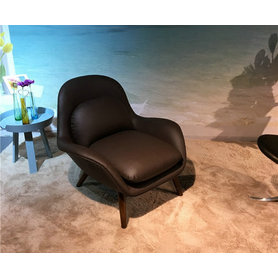 Sedia moderna in pelle italiana Swoon Loung
