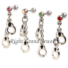 Crazy Factory Piercing Dangling Handcuffs Piercing Cartilage Ear