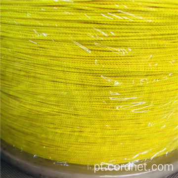 Nylon Braid Twine 2mm com cor amarela