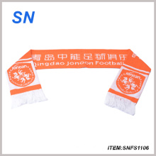 2015alibaba Hot Sell Football Scarf Fan Scarf 100%Acrylic Scarf