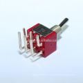 MTS-202-C3 6A DPDT ON-ON Interrupteur à bascule standard 6 broches courbées
