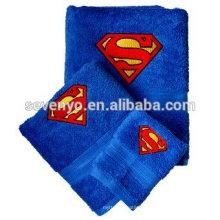 Пользовательские Супермен 100% хлопок полотенце