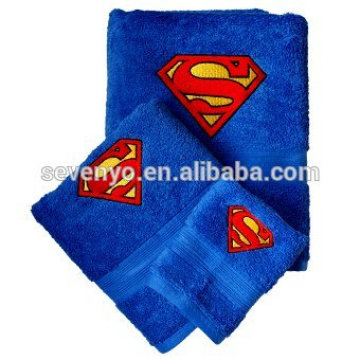 Custom Superman 100% Baumwollhandtuch
