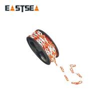Zhejiang China Wholesale Red & White 50M Longitud plástico recubierto de la cadena del rodillo