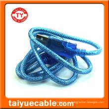 Прозрачный синий USB-кабель стандарта USB 2.0