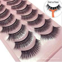 3d Silk Fiber False Eyelashes 10 pairs
