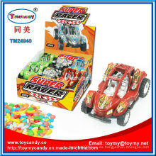 Hecho en China Plastic Race Car Toy con Candy