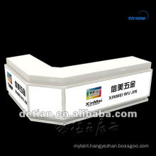 Wood painting customized reception desk,Shanghai Detian used reception desk