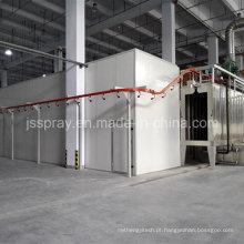 Linha automática nova da máquina de revestimento do pó para cremalheiras do armazenamento
