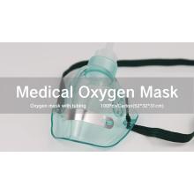 Máscara médica de oxigênio descartável de PVC segura para atacado