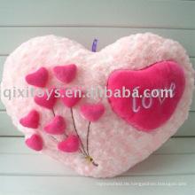 Plüsch & gefüllt Herz-Form Valentine Kissen, weiche Blume Kissen Spielzeug