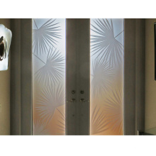 Custom to sizes 3mm 4mm 5mm 6mm flat clear tinted Acid Etched Frosted glass