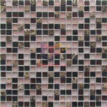 Matt Face Glass Mix Marble Mosaic Tiles (CS254)