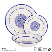 18PCS Cena de cerámica pintada a mano conjunto buena venta
