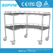 SF-HW1081 Krankenhaus verwenden Edelstahl medizinische Ausrüstung Trolley
