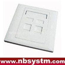 Face Plate 2 porta, tamanho: 86x86mm