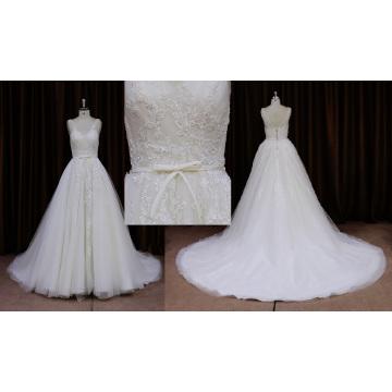 Robe de mariée charmante sans manches