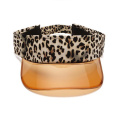 Leopard PVC sun protection plastic sun visor cap