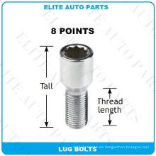 Pernos del perno del sintonizador de 8 puntos para la rueda del coche